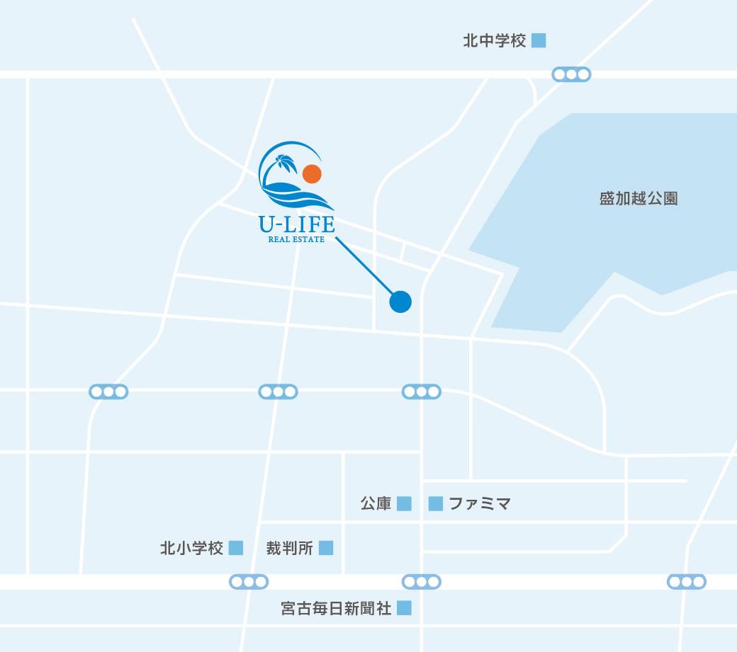 ユーライフアクセスマップ